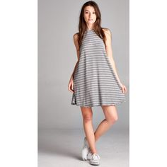 • LAST ONE • Casual Striped Tank Dress Label is Honey Punch which is sold at many boutiques & stores including Pacsun, Urban Outfitters, ASOS, Tobi, and Lulus. Sleeveless multi-stripe casual dress. Only Mediums Left!! Honey Punch Dresses