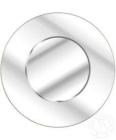 Simple Round Bevelled Mirror