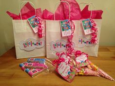 Lalaloopsy party bags and matching cones Party bags for kids Find us on Facebook  Crofty75@aol.com 07799434226