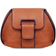 2ef27037e52e Fashionable PU Leather and Solid Colour Design Crossbody Bag For Women
