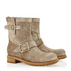 Nwt Jimmy Choo Metallic Leather Boot Size:40