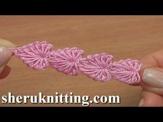 Crochet Mini Hearts String Tutorial 112 - YouTube