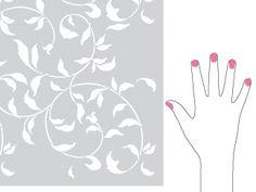 stencils for walls and fingernails