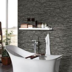 A.S. Creation Murano Stone Black Wallpaper: Image 2