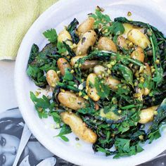 Australian potato salad. We didn't know it existed, but when you swap mayo for a tangy vinaigrette and add charred greens, magic happens.