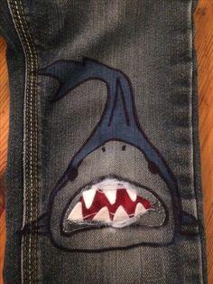 Shark knee patch