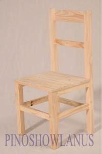 silla modelo eco pata recta en pino