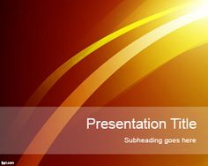 Sun Lights PowerPoint Template is a free PowerPoint template with abstract slide design that you can download for presentations in Microsoft PowerPoint