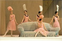"""A performace of """"Les Biches"""" by the Royal Ballet in 2005.    A hundred years ago this May 18, in Paris, the Ballets Russes, led by Serge Diaghilev, gave its first performance and had an epoch-making triumph."""