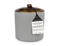 A lovely soy candle in a re-usable ceramic pot will brighten (literally) any home this winter.