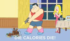 American Dad Funny Quotes | american dad, die calories, funny, gif - inspiring animated gif on ...