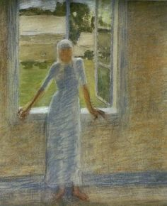 By the window by Maria Wiik in Fine Art on May 2004 at the null null sale lot 50 Art For Sale, Finland, Auction, Pastel, Window, Paintings, Fine Art, Poland, Artists