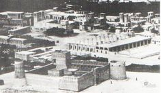 Rare Picture of Al Fahidi Fort Dubai in 1936. Al Fahidi Fort is square-shaped with towers occupying three of its corners. It was built of coral rock and mortar in several phases.