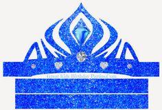 Frozen in Blue: Free Printable Crown or Tiara.