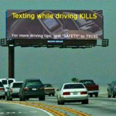 texting while driving fail!