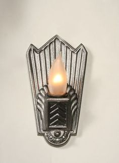 Art Deco Cast Wall Sconce With Shell Back, c. 1930