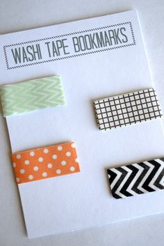Magnetic Washi Tape Bookmarks: DIY including free printable, a sweet little handmade gift to give with a favorite book. Magnetic Bookmarks, Magnetic Tape, Diy Bookmarks, Bookmark Craft, Duct Tape Bookmarks, Magnetic Strips, Magnets, Bookmark Ideas, Book Crafts