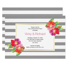 #party - #Watercolor gray white wedding engagement party card