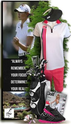Check out a pretty golf set exclusive at lorisgolfshoppe.polyvore.com! #polyvore #ootd #lorisgolfshoppe