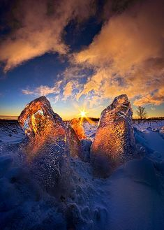 Fire And Ice Photograph