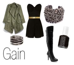 """Gain"" by ja-vy ❤ liked on Polyvore featuring Jane Norman, Essie, Werkstatt:München, Kelly & Katie, DANNIJO, brown eyed girls, sixth sense and gain"
