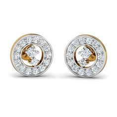 Shimmering Halo Studs 18 karat gold earrings A shimmering ring of CZ stones with two stunning centerpieces make these studs an absolute must-have for any happening party! Heart Earrings, Gold Earrings, Cz Stones, Valentines Day Hearts, Heart Of Gold, Black Onyx, Halo, Studs, Centerpieces