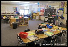Classroom set-up and organization inspiration www.rainbowswithinreach.blogspot.com