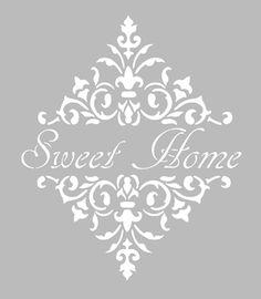pochoir lettres home sweet home pinterest. Black Bedroom Furniture Sets. Home Design Ideas