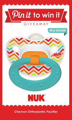 Who doesn't love a cute #chevron print? Not only is this #pacifier #trendy, but it promotes #healthy oral development! #NUK #pacifiers #babyshower #babyregistry #BPAfree