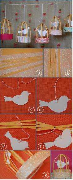 DIY paper bird cages