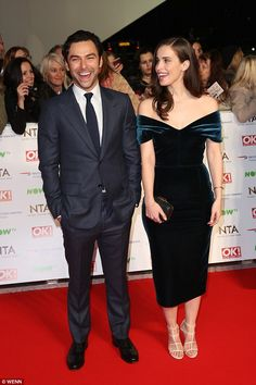 Having a blast: The co-stars flaunted their chemistry as they laughed together on the red carpet