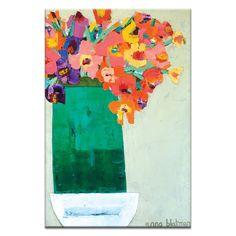 Green Vase Canvas Wall Art - Artist Lane Presents Anna Blatman - Artist Lane
