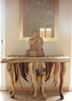 Meuble chinois bahut petit buffet peint la main en c dre tr s belle finition ebay meuble - Meubles asiatiques bordeaux ...