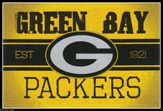 "Green Bay Packers Sticker NFL Football Licensed Team Logo Item: Glossy Sticker Team Logo Condition: New (Not intended for outdoor use) Team: Green Bay Packers Approximate Measurements: 3"" x 4-1/4"" Wid"