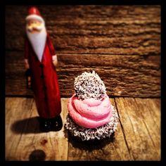 Zipfelmützen Cupcakes für Weihnachten
