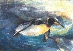 ATC/ACEO Watercolour Penguins by ~Chromamelon on deviantART