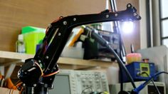 UFactory – located in China's Shenzhen – has debuted a 4-axis parallel-mechanism desktop robot arm. UArm, modeled after the ABB industrial PalletPack robot, is built around Atmel's ATmega328 MCU which powers a custom board. The platform is constructed with acrylic or wood parts and fitted with standard RC hobby servos. #Atmel #ATmega328 #MCU #Makers #MakerMovement #uARM #Robots #Robotics #DIY