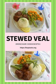 "Moschari Kokkinisto is a Greek stewed recipe with veal.  We don't prefer beef in Greece so most of the Greek dishes are made with veal.  Kokkinisto in Greek means ""reddened"" which is the final outcome of a veal dished cooked in red wine and tomato. #moscharikokkinisto #stewedveal #stewedbeef #Sundaymeals #Greekfood #beef #veal #kopiaste"