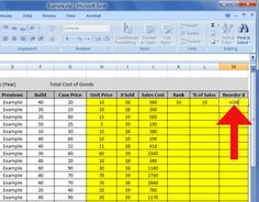 How to Create an Inventory List in Excel