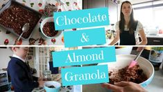CHOCOLATE & ALMOND GRANOLA - HEALTHY BREAKFAST RECIPE