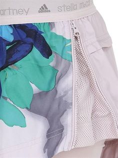 ADIDAS BY STELLA MCCARTNEY - BLOSSOM PRINTED RUNNING SHORTS - LUISAVIAROMA - LUXURY SHOPPING WORLDWIDE SHIPPING - FLORENCE