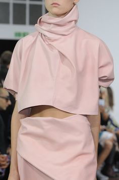 Sophisticated and skilled draped shapes seen at @JW_ANDERSON #SS15 collection #LFW
