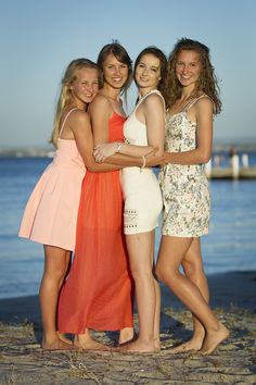 More sisters ... this time at Point Walter Reserve in beautiful Bicton Western Australia ... colourful afternoon light portrait of four happy girls .... great memory to have later on in life ... photos - the enjoyment never ends!