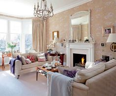 Brilliant 12 Wonderful Victorian Living Room Design and Decor Ideas For You Try … - Home Professional Decoration Home Living Room, Room Design, House, Home Decor, Edwardian House, Urban Interiors, Interior Design, Home And Living, Victorian Living Room