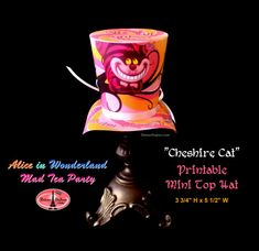 Cheshire Cat Mini Top Hat Printable Alice in by DetourDuJour
