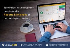 Yelowsoft taxi dispatch and management system comes with robust reports and analytics that provide you with vital data which in turn helps you to take insight-driven business decisions. Driver App, Taxi App, Thing 1, Insight, Management, Business, Store, Business Illustration
