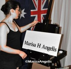 "Artist In Studio Marisa Angelis   Marisa Angelis  - Australian  Artist Painter Designer Writer Poet Philanthropist Humanitarian Promoter - who holds four nominations, including ""Australian of the Year 2003"" Short List - Role Model  © www.marisaangelis.com - Art"