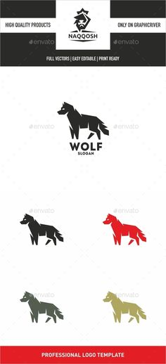 Wolf — Vector EPS #club #colorful • Available here → https://graphicriver.net/item/wolf/12897555?ref=pxcr