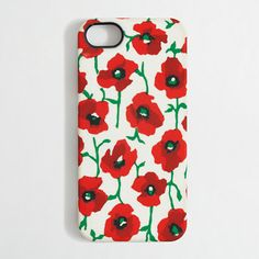 A happy floral print / J. Crew Factory printed phone case for iPhone 5