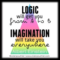 """""""Logic will get you from A to B. Imagination will take you everywhere"""" - Albert Einstein"""